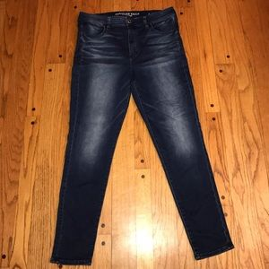 AMERICAN EAGLE HI-RISE JEGGING JEANS WOMENS 16 R